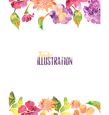 Aquarela livre com vector fllower - Free vector #209577