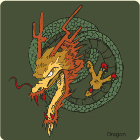 Dragon 2 Freebie - Free vector #209587