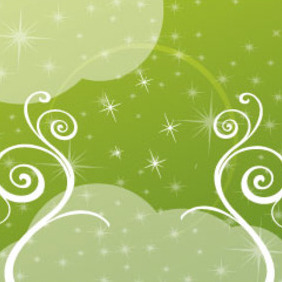 Green Swirls With Transprent Design - vector gratuit #209747