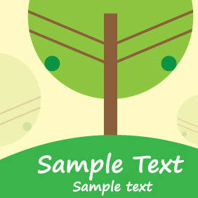 Green Tree In Nature - vector #209837 gratis