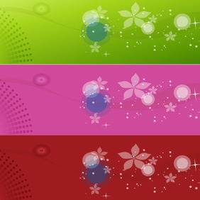 Three Colored Vector Design - Free vector #209917