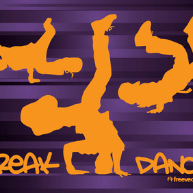 Breakdancing - Free vector #210007