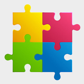 Free Colorful Puzzle Pieces - бесплатный vector #210037