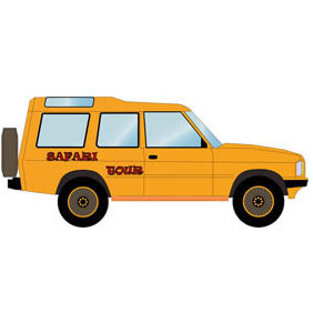 Safari Off Road Car - vector #210197 gratis