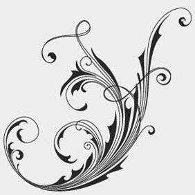 Free Vector Floral Swirls - Kostenloses vector #210287