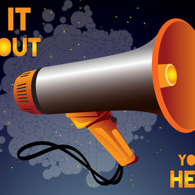 Shout - vector #210327 gratis
