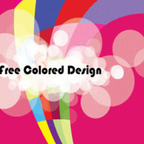 Abstract Colored Design In Pinked Vector - Free vector #210367