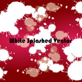 White Splashled In Red Background Vector - Kostenloses vector #210387