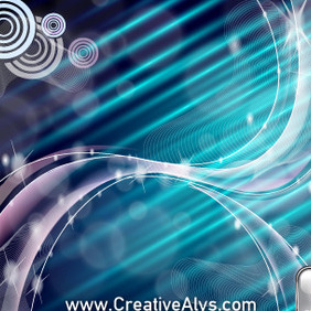 Abstract Glossy Background Design - vector gratuit #210407