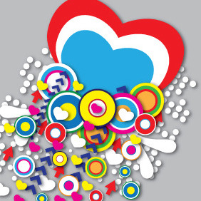Embrace The Spirit Of Valentine's Day - vector gratuit #210497