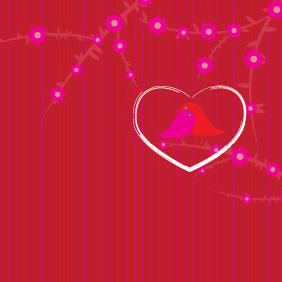 Valentines Day Love Card - vector gratuit #210527