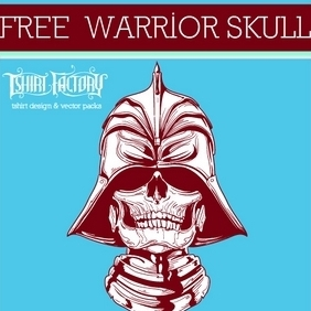 Warrior Skull - Free vector #210547