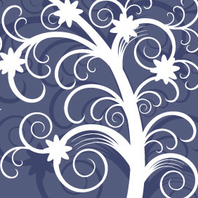Blue N White Card - vector #210567 gratis