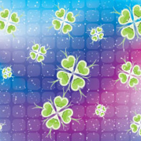 Blue Pink Dotted Floral Green Design - vector gratuit #210637