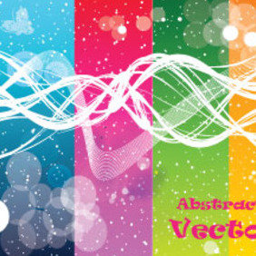 Four Abstract Colored Transprent Art Graphic - Free vector #210667