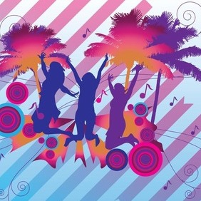 Tropical Party - vector gratuit #210687
