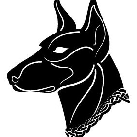 Black Dog Vector Image - vector gratuit #210777