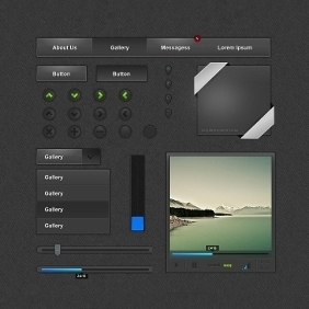 Web Page UI Elements - Free vector #210837