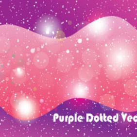 Purple Dotted Shinning Vector Graphic - Kostenloses vector #210847