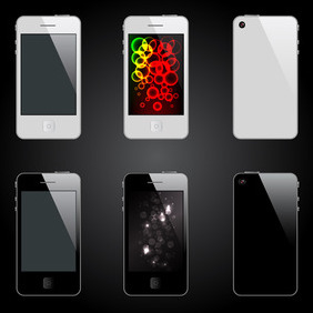 Vector 4G IPhone - Free vector #210987