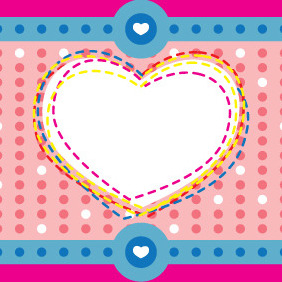 Valentine Heart Background - vector #210997 gratis