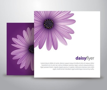 Daisy Flyer - Free vector #211037
