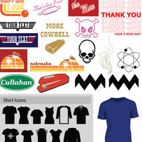 Classic T-Shirt Art (Plus Actual Vector T-Shirts!) - vector #211077 gratis