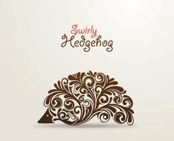 Swirly Hedgehog - vector gratuit #211087
