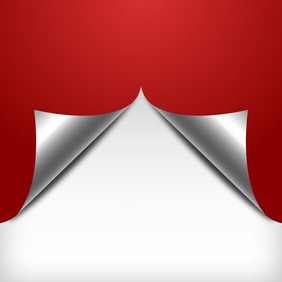 Red Curled Page Background - Free vector #211187