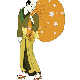 Traditional Japanes Man - vector #211217 gratis