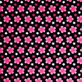Dark Vibrant Petal Seamless Vector And Photoshop Pattern - vector gratuit #211277