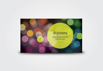 Defocused Lights Business Card - Free vector #211287