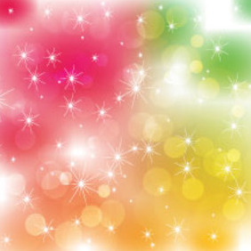 Colored Blur Vector Art Stars Free Design - vector #211327 gratis