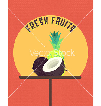 Free fresh fruits vector - vector #211337 gratis