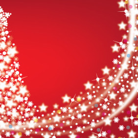 Decorative Christmas Background - vector gratuit #211457