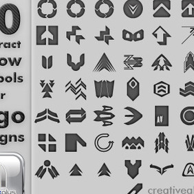 50 Abstract Arrow Symbols For Logo Designs - Free vector #211507