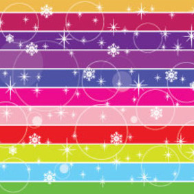 Multi Lined Colored Snow Vector - Free vector #211667