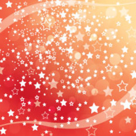 Orange Stars Abstract New Year Vector - Free vector #211727