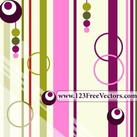 Colorful Retro Background Vector - vector #211737 gratis