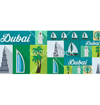 Free travel and tourism icons dubai vector - Free vector #211747