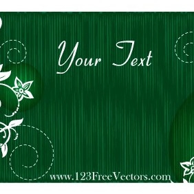 Vector Green Floral Text Banner - vector #211917 gratis