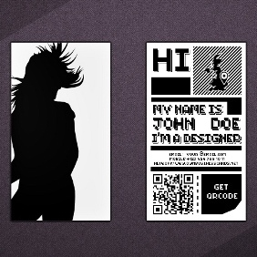 QR Code Business Card - vector gratuit #211957