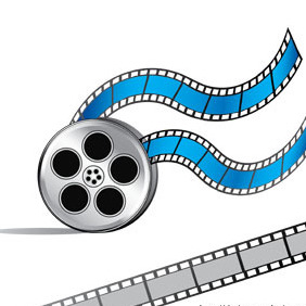 Free Video Film Reel Vector - Free vector #211977