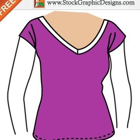 Girls Free Vector T-shirt Template Design - Kostenloses vector #211997