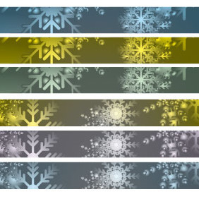 728*90 Vector Xmas Banners - Free vector #212117