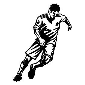 Soccer Player Free Vector - Kostenloses vector #212127