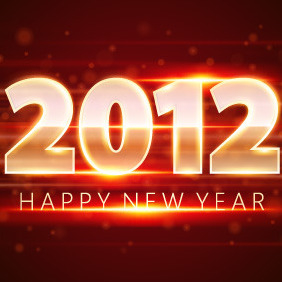 2012 New Year Vector - vector gratuit #212147
