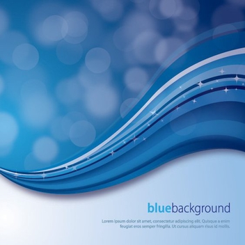 Magical Blue Background - vector gratuit #212197