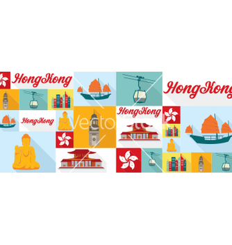 Free travel and tourism icons hong kong vector - vector gratuit #212207