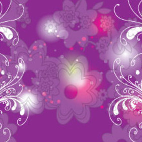 Flowers With Black Stroke Free Vector - vector gratuit #212427